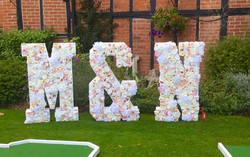 Floral Letters M&N in flowers