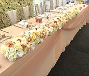 Floral Table runner for top table wedding