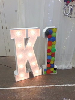 Happy Birthday Balloons in letters