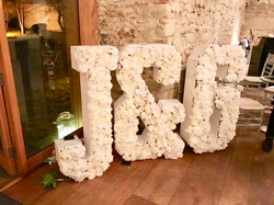 Flower letters J&G Love floral