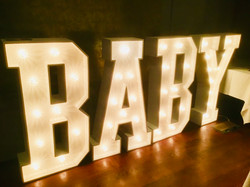 BABY light up letters for hire