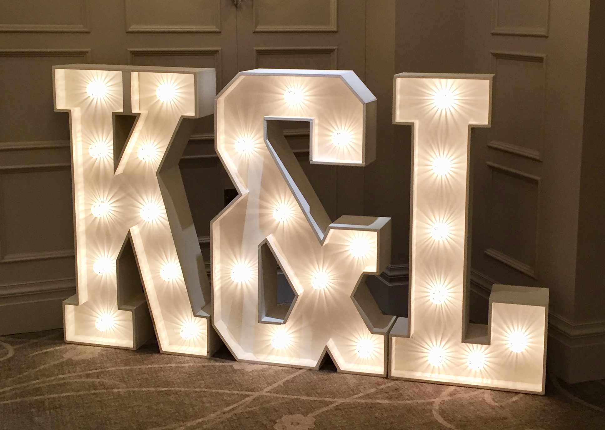 K&L light up letters
