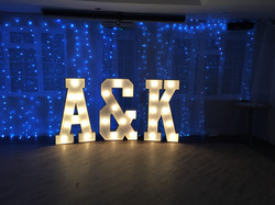 Light up letters A&K in lights