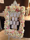 Floral Table Plan Frame with easel
