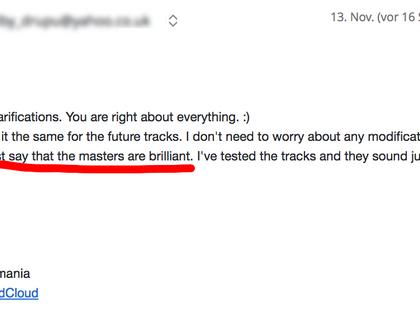 Email Conversation Screenshot