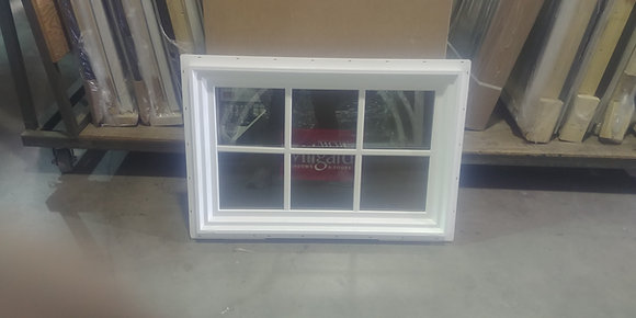 "Milgard White Vinyl Picture Window with SDL - RO 36"" x 24"""