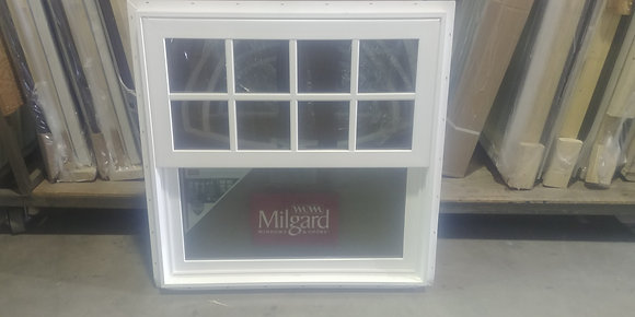 "Milgard Vinyl Single-Hung Window with SDL - RO 36"" x 36"""