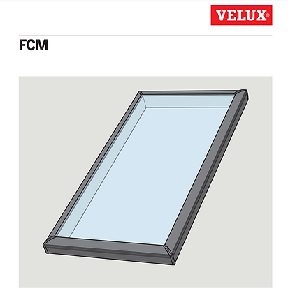 Velux FCM 2222-0004 Curb Mount Flat Clear Glass Skylight