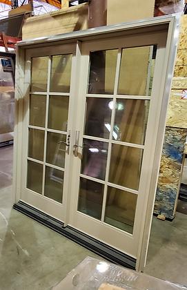 Milgard Ultra 6-0 x 6-8 Fiberglass French Door Tan/Tan with Handleset