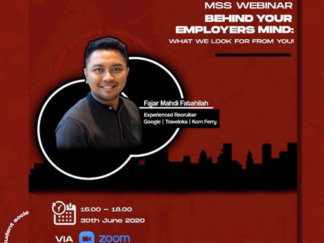 [Webinar Report] Behind Your Employers Mind: What We Look For From You!