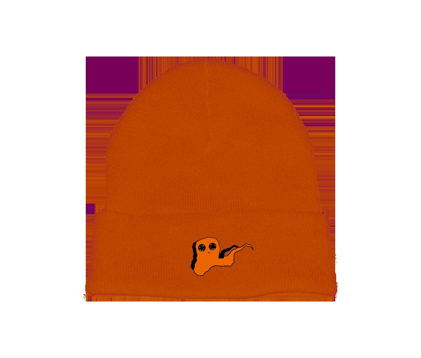 Orange Ghost Beanie