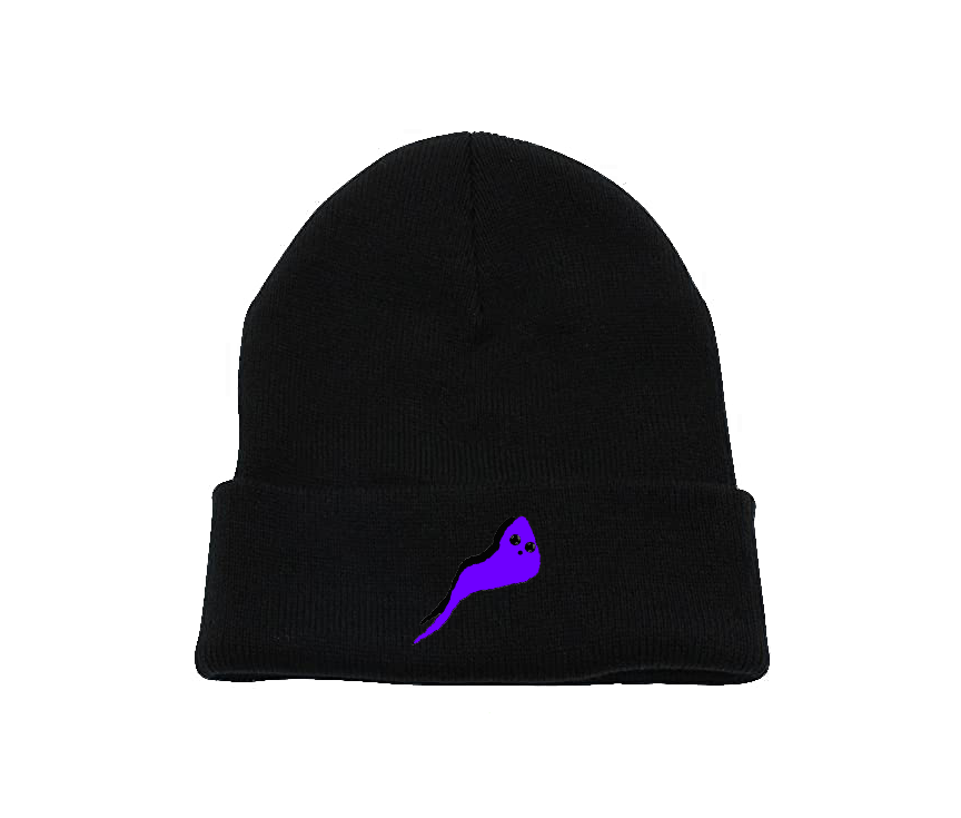 Purple Ghost Charcoal Beanie