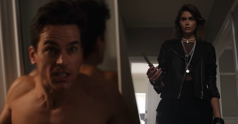 Matt Bomer as Michael & Kaia Gerber as Ruby in FX's American Horror Stories: Rubber (Wo)man