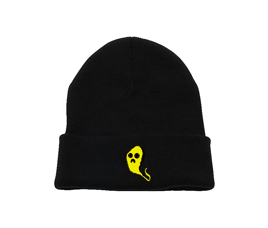 Yellow Ghost Charcoal Beanie