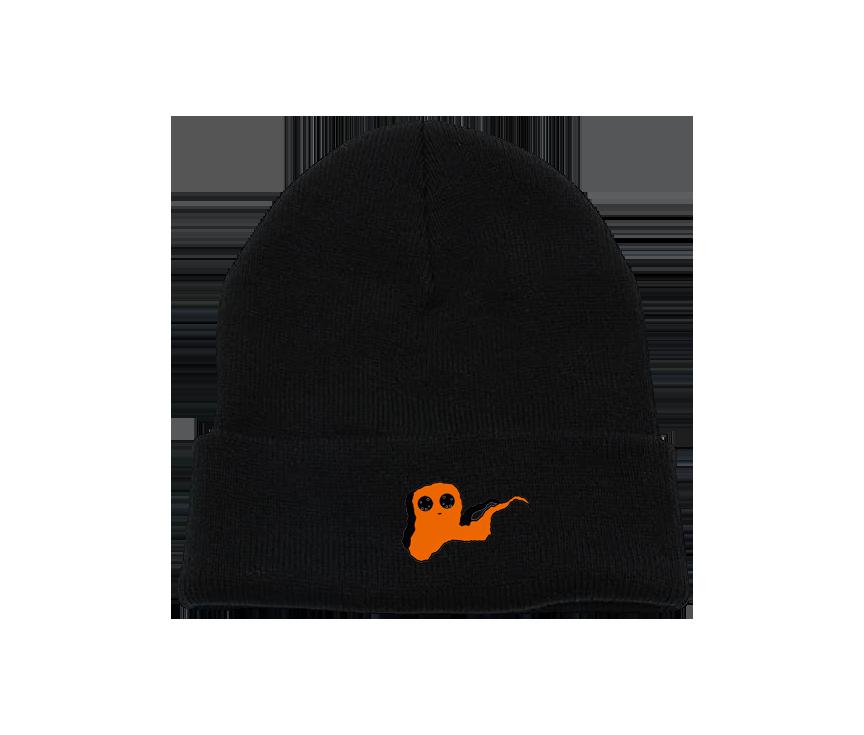 Orange Ghost Charcoal Beanie
