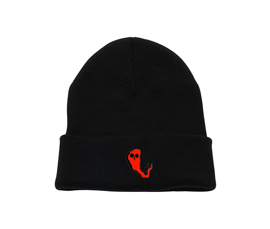 Red Ghost Charcoal Beanie