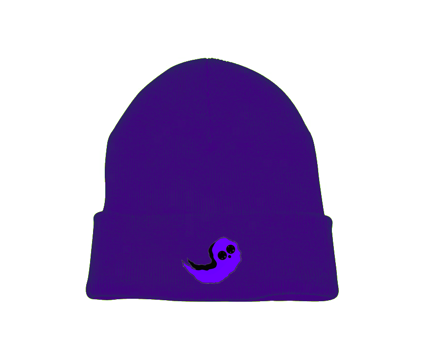 Purple Ghost Beanie