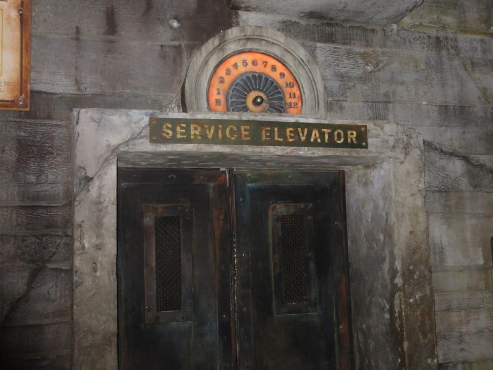 "Walt Disney World's ""The Twilight Zone: Tower of Terror"" Hollywood Tower Hotel Service Elevator"