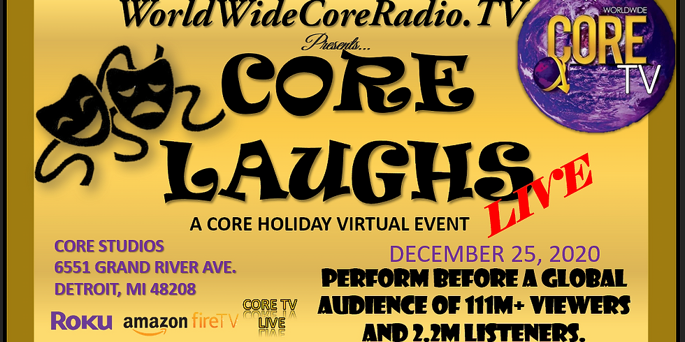 Core Laughs LIVE Holiday Event