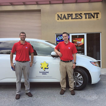 Naples Tint Company donates to Sunshine Kids
