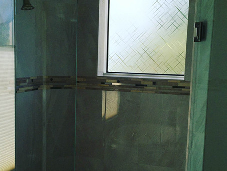 Custom bathroom privacy film