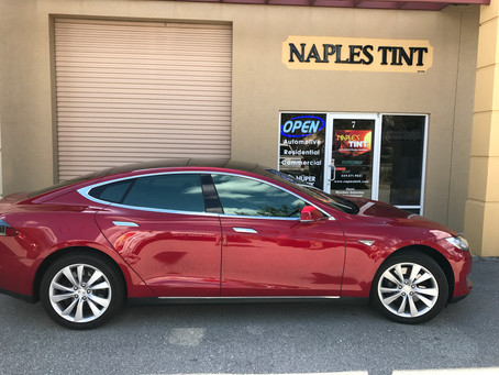 Tesla Model S outfitted with 98% IR rejection Huper Optik DREI
