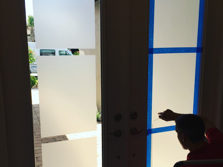 Clear front door? Check out our custom glass film