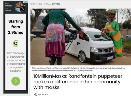 And another piece on our favourite mask-makers for IOL - this one on Thobekile Sibanyoni.