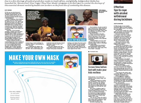 We have been writing. About Masks. Our mask-makers. And our partnership with #10MillionMasks