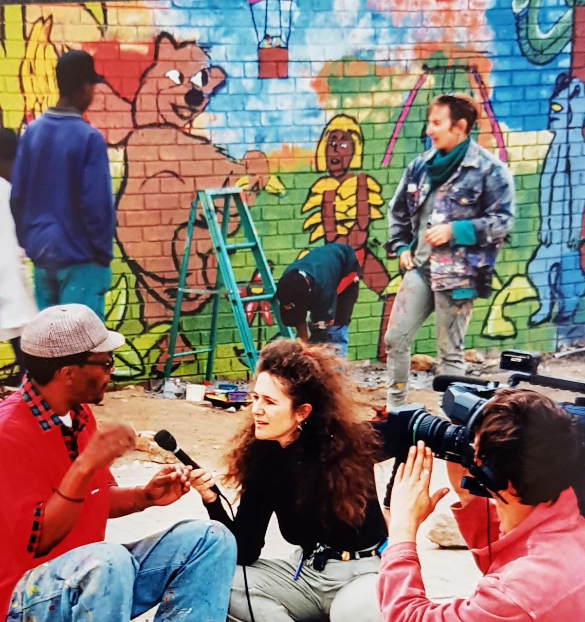 Kathy Berman interviews Alex mural artis