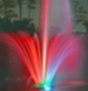 LYH fountain at night