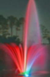 LYH fountain at night