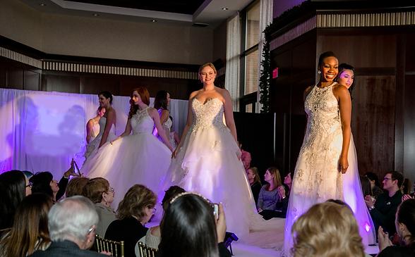 Warwick bridal show runway bridal models