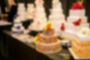 Swansea bridal show wedding cakes display