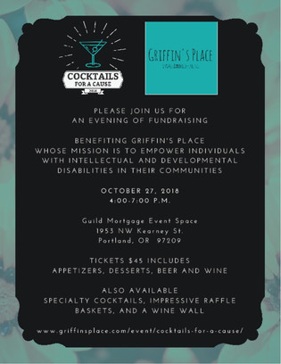 Join Fitzwater Law at Cocktails for a Cause Benefiting Griffin's Place