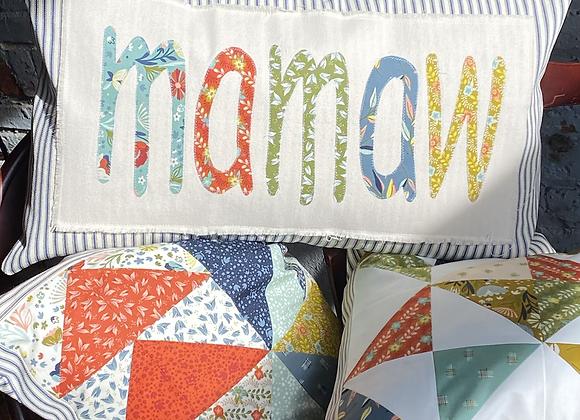 Mamaw Pillow (Customizable up to 8 letters) $42