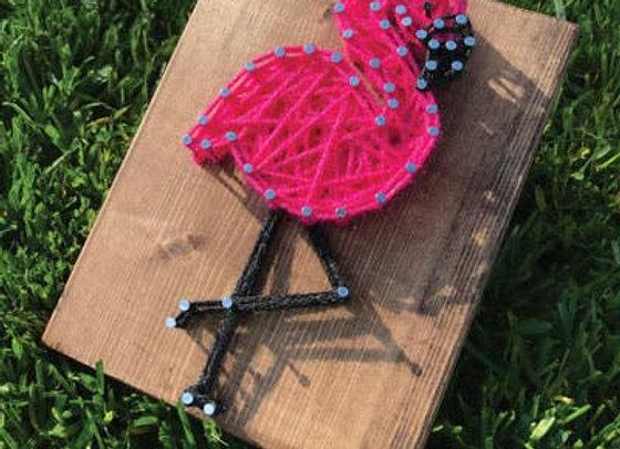 Flamingo Mini String Art Kit
