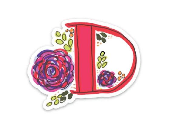 Letter D Monogram Decal