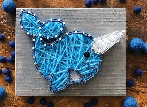 Narwhal Mini String Art Kit