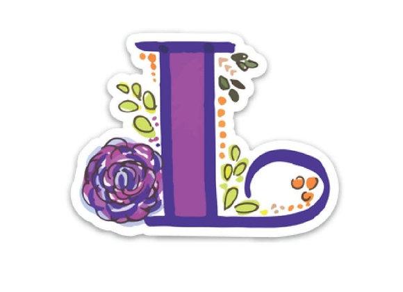 Letter L Monogram Decal