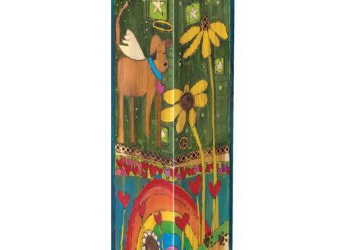 "Rainbow Bridge Dog 20"" Art Pole"
