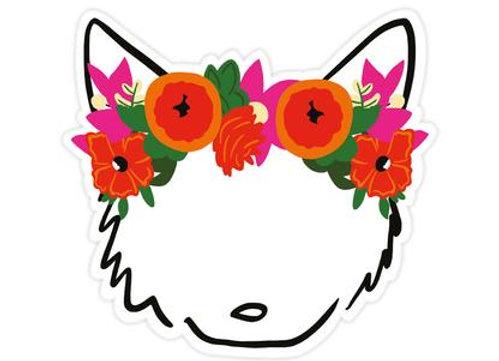 Bloomwolf Sticker