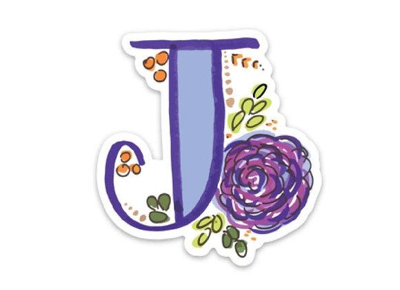 Letter J Monogram Decal