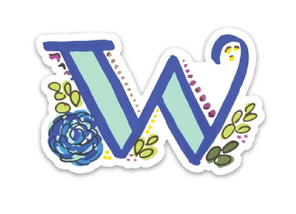 Letter W Monogram Decal