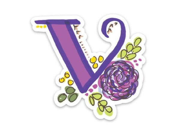 Letter V Monogram Decal