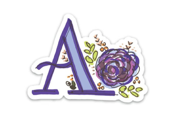 Letter A Monogram Decal