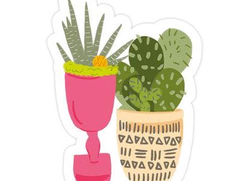 Cacti Duo Sticker