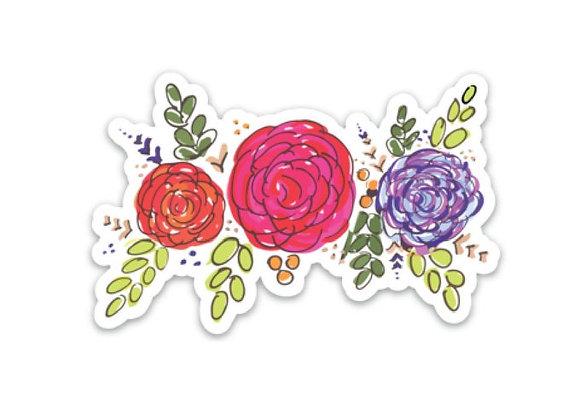 Floral Garland Sticker