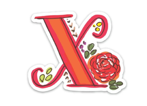 Letter X Monogram Decal