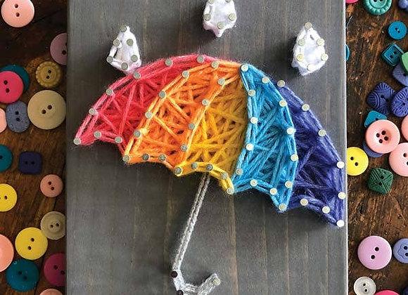 Rainbow Umbrella Mini String Art Kit